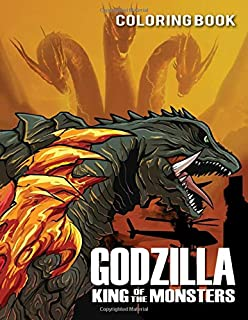 Godzilla Coloring Book: Great Coloring Book With 50 Exclusive Images