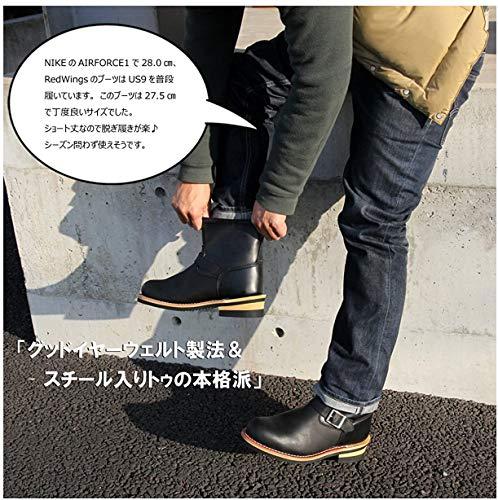 (ゴッド&ブレス)GOD&BLESSショートエンジニアブーツ(24.5cm,BLACK)