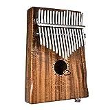 Piano pulgar 17 teclas EQ Wood Kalimba Thumb Piano Link Speaker Pastilla eléctrica con funda Cable Mbira Marimba Instrumento musical africano