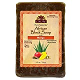 OKAY | African Black Soap with Mango | For All Skin Types | Cleanses and Exfoliates | Nourishes and Heals | Free of Sulfate, Silicone & Paraben | 5.5 oz