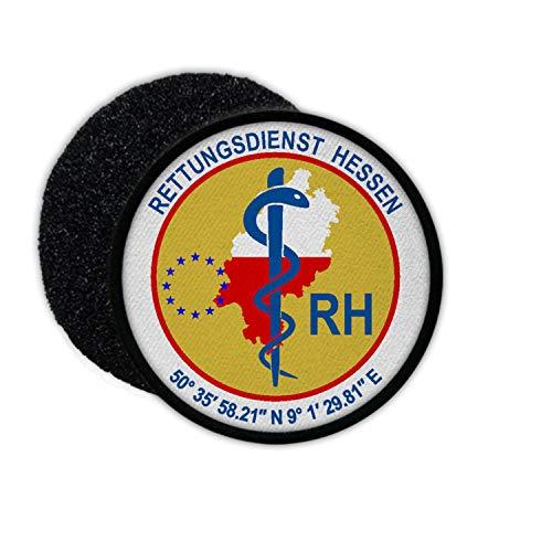 Copytec Patch RH Rettungsdienst Hessen Not-San Rettung Sanitäter Frankfurt #35260