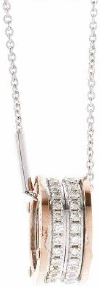 Chimento,collana in oro bianco 18 kt,e pendente in oro rosè e oro bianco,e diamanti 0,43 ct 1G07796BB6800