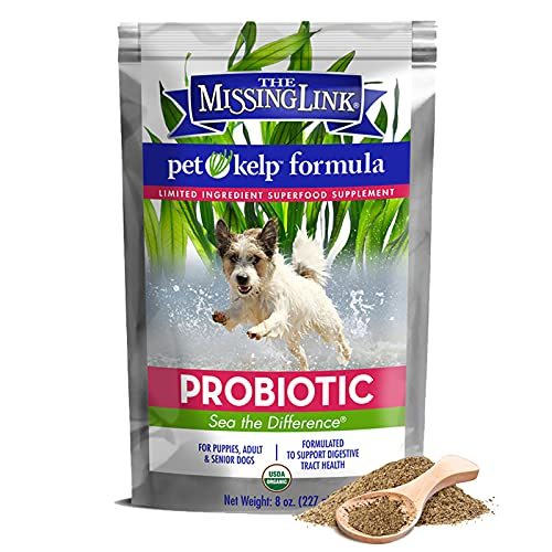 The Missing Link - Organic Pet Kelp  Probiotic Formula — Limited ingredient Superfood Supplement for Dogs rich in balanced Omegas 3  6  and 9 and probiotics to support digestion and nutrition health — 8 ounces