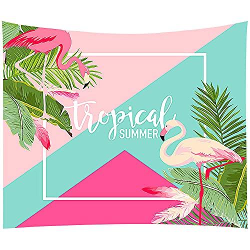 FANDE Rosa Flamingo Wandteppich, Wanddekoration Wandteppich, Cartoon Strandtuch, Picknickmatte, Tischdecke, Schlafzimmer, Wohnzimmer, Heimtextilien, 100*70 cm