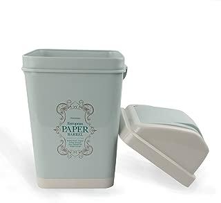 NICESH 3 Gallon Trash Can, 12 L, Plastic Swing Lid (Blue)