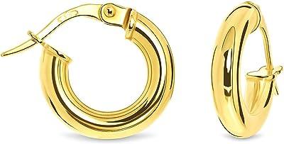 Miore Orecchini da Donna, Oro Giallo 9k (375)