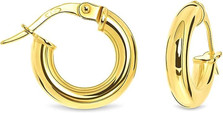 Orecchini in oro giallo donna 9k (375) miore MSIL905E