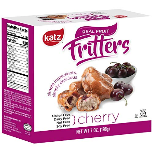 Katz Gluten Free Cherry Fritters   Dairy, Nut, Soy and Gluten Free   Kosher (1 Pack, 7 Ounce)