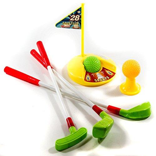 Golf Set für Kinder mit Driver, Putter und Chipper, Loch mit Fahne, 2 Bälle & 1 Abschlag- Tee , Minigolf Spielzeug Golfset Golfspiel Kinder …