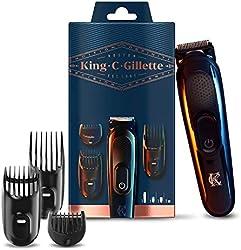 King C. Gillette Recortadora de Barba y Cortapelos Inalámbrica Hombre con Cuchillas de Larga Duració