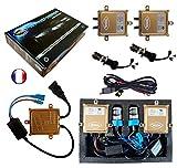 Kit HID Bi Xénon Marque FRANCAISE Vega® H4 HILO 6000K 55W Slim DSP AC ampoules à embase...