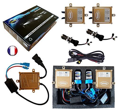 VEGA Kit HID Bi Xénon Marque Francaise H4 HILO 10000K 55W Slim DSP AC Ampoules à embase métallique