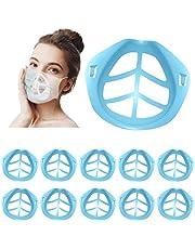 Soporte de cubierta facial 3D, cubierta de boca Marco de soporte interno Protector de lápiz labial de silicona Protector maquillaje Accesorios reutilizables - Crea más espacio para respirar, lavable