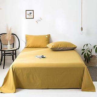 Inicio Accesorios colcha de ropa de cama de color liso ropa de cama de satén de algodón color liso doble nórdico algodón de color liso sábanas de algodón lavado 100% colcha de algodón dobleSea brea