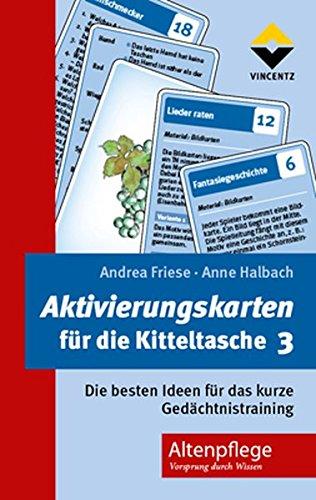 Vincentz Network GmbH & C Aktivierungskarten für die Kitteltasche 3: Die besten Ideen für das Kurze Gedächtnistraining