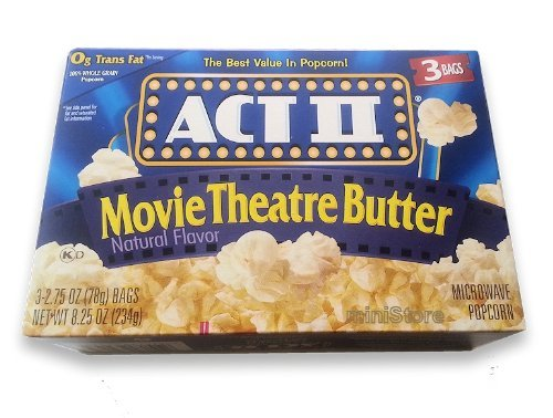 Microwave Popcorn Act Selling II Movie 8.25 Butter oz Theatre Classic
