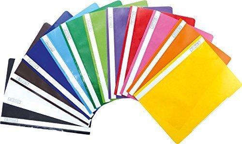 Brunnen Schnellhefter Kunststoff - GROßPACK bunt - 12 Stück bzw. Farben im Pack