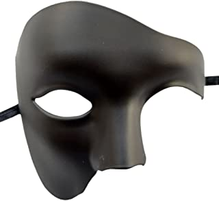 Coolwife Masquerade Mask Vintage Phantom The Opera One Eyed Half Face Costume