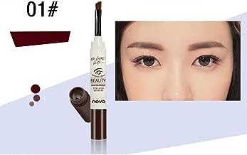 KingWo Novo Fashion Makeup Cream Eyebrow Dye Mascara Natural Eyebrow Cream Brown Black (A)
