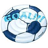 Swimline Inflatable Soccer Ball Ride-On Pool Float Blue/White, 60'