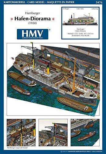 HMV - Hamburger Modellbaubogen Verlag 3476papermodel Harbor Diorama Hamburg