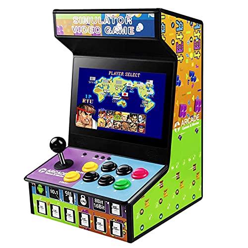 DOYO Maquina Arcade Consola Retro, Recreativa Portátil con Joystick y Pantalla de Vídeo, Arcade Cabinet es Compatible con NES, SNES, GBA, Sega, PS, DC, MAME