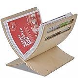 Vislone Portariviste/Porta Lettere da Terra Design Moderno Marrone/Bianco/Nero 29,5 x 29,5 x 26,5 cm