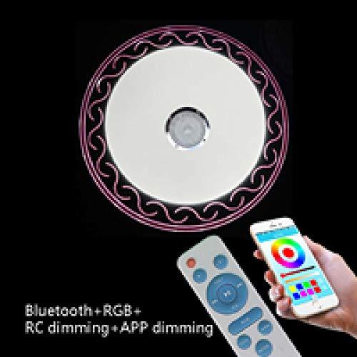 WFSDKN Ultradunne plafondlamp LED RGB dimbaar 36 W APP afstandsbediening Bluetooth lampen muziek slaapkamer licht plafond intelligente lamp