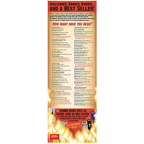 Teacher's Discovery Banned, Burned, and a End Panel Poster - 38' H x 13' W