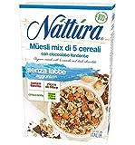 Nattura Muesli de avena con chocolate orgánico sin leche agregada, sin aceite de palma y sin levadura - 1 x 300 gramos