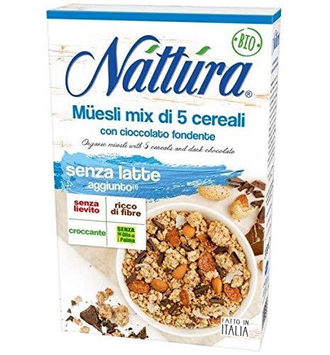 Nattura Muesli di Avena con Cioccolato Biologico Senza Latte Aggiunto Senza Olio di Palma e Senza...
