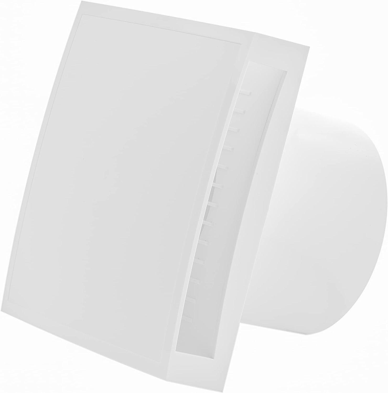 Vent systems Ventilador eléctrico de 100 mm de diámetro con cubierta de ventilación Sollid. Para uso en interiores.