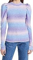 En Saison Women's Puff Sleeve Sweater Top