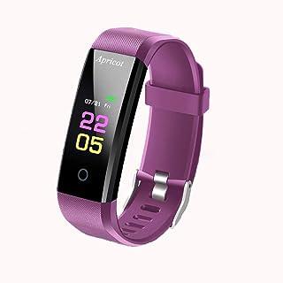 Aatif.L Rastreador de fitness con pulsómetro, pantalla a color de 0,96 pulgadas, monitor de actividad, monitor de sueño, podómetro, reloj, reloj inteligente para niños, mujeres y hombres