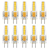 Kohree 10pcs Ampoules LED G4 Blanc Chaud 2900K 2W 220 lumen 12V 2835SMD Equivalent à Lampe Halogène 20W