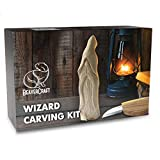 BeaverCraft, Beginners Wood Carving Whittling Kit - Hobby DIY Wood Craft Kit for Adults and Teens - Whittling Knife Kit with Wood Blocks - Wood Carving Tools Kit - Woodworking Carving Kit DIY03 Wizard