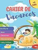 cahier de vacances +5ans: Cahier d'activités d'été de 100 pages pour consolider les acquis de la grande section | avec diplôme | apprendre et s'amuser