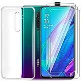 HYMY Hülle für Oppo Reno 2Z Smartphone + 3 x Schutzfolie Panzerglas - Transparent Schutzhülle TPU Handytasche Tasche Durchsichtig Klar Silikon Hülle für Oppo Reno 2Z -Clear
