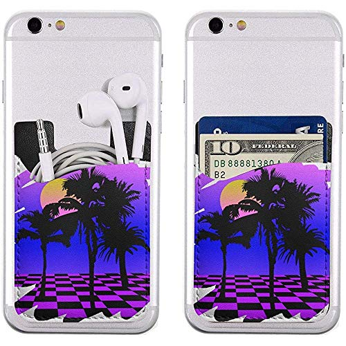 Interieur shop telefoon kaarthouder Eighties VHS Palm TreesAdhesive Stick-on ID creditcards brievenzak telefoonhoes pouch sleeve zak compatibel