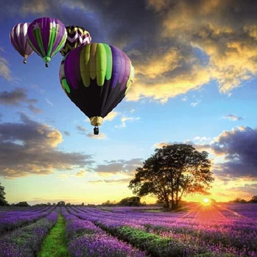 Carte Blanche 3D holografische Karte – Nahe – Heißluftballons und Lavendelfelder