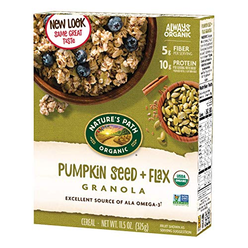 Nature's Path Organic Granola Cereal, 12 Count, Pumpkin Seed Plus Flax, 138 Oz