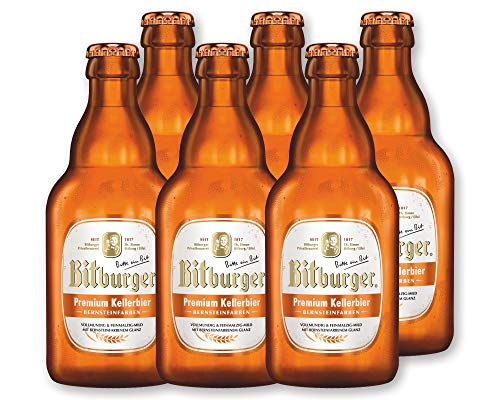 6 Flaschen Bitburger Kellerbier 0,33l - Stubbi