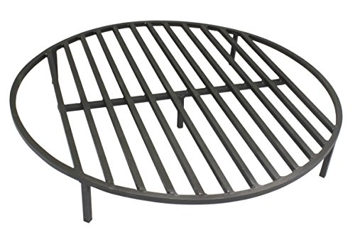 Great Deal! TITAN GREAT OUTDOORS Round Fire Pit Grate 30'' Heavy Duty Grill Cooking Campfire Camp Ri...