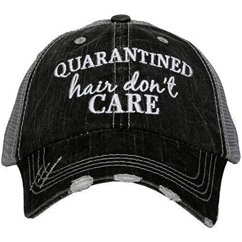 KATYDID Quarantined Hair Don't Care Baseball Hat - Trucker Hat for Women - Stylish Cute Baseball Cap Gray