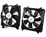 2012 Acura TSX A/C Condenser Fan Assemblies - KARPAL Left + Right Radiator Condenser Fan Assembly Compatible With 2008-2012 Honda Accord