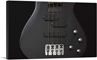 ARTCANVAS Black Bass Guitar Home Decor Canvas Art Print - 26