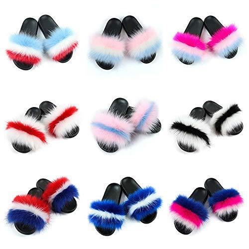Diapositivas Piel Coloridas señora Zapatillas esponjosas