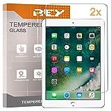 REY 2X Protector de Pantalla para iPad 9.7' (2018) / iPad Pro 9.7' / iPad 9.7' 2017 / iPad 5 Air/iPad Air 2, Cristal Vidrio Templado Premium, Táblet