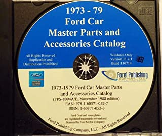1973 1974 1975 1976 1977 1978 1979 FORD CAR FACTORY MASTER PARTS ACCESSORIES CATALOG CD-ROM