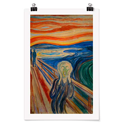 Bilderwelten Poster Wall-Art - Edvard Munch - Der Schrei - Selbstklebend seidenmatt 60 x 40cm